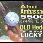 バス釣り|Abuアンバサダー5500C【74年】【オールドヘドン タイニー ラッキー13】【フェンウィック】【Abu Ambassadeur 5500C】【オールド Abuリール】トップウォーター