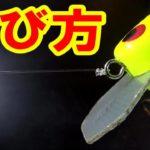 【バス釣り】バス釣り初心者必見!ルアーの結び方!