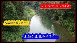 9/3 鮎釣り 米代川支流 美しいロケーションで