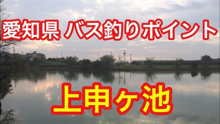 上申ヶ池 愛知県 バス釣りポイント ブラックバス ヘラブナ釣り