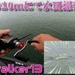 #琵琶湖#バス釣り【真夏の10mにて水面爆発!!】