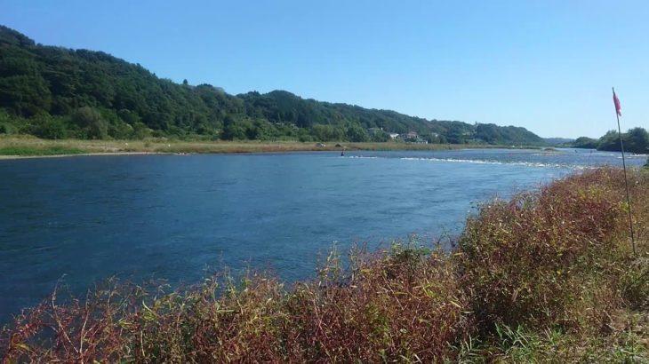 2019 栃木県那珂川鮎釣りポイント(箒川との合流下流)