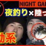 【バス釣り 岸釣り 夜釣り 陸っぱり】夜の琵琶湖を岸から狙う!波動系ワームタイゲン炸裂!? NIGHT GAMER①