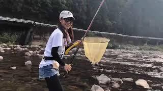【公式釣りガール】サキやん鮎釣りに挑戦!