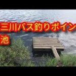 五三川 バス釣りポイント 細池と上流の橋 ブラックバス釣りポイント 岐阜バス釣り場