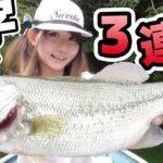 【釣りガール】バス釣りは台風前に良く釣れる!相模湖