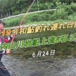 2019 06 24鮎釣れ連れ日記5大内山川岩船&石ぶり