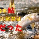 2019年小国川鮎釣り解禁日の様子