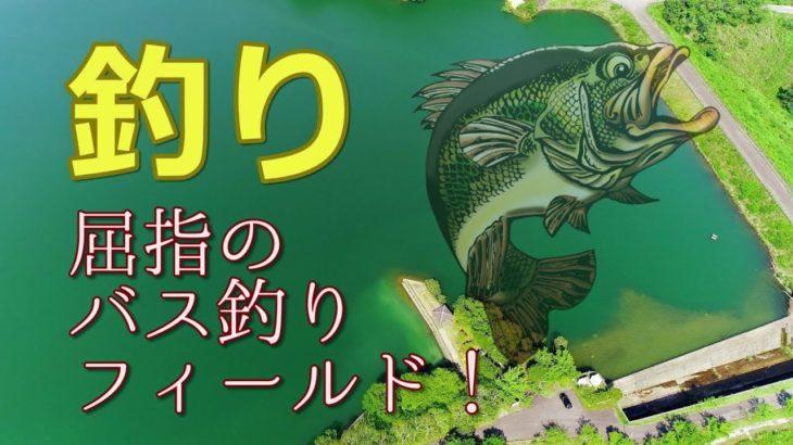 バス釣り!初夏の新緑がきらめく師田原ダム ドローン映像4K 屈指のブラックバス釣りができるフィールド!