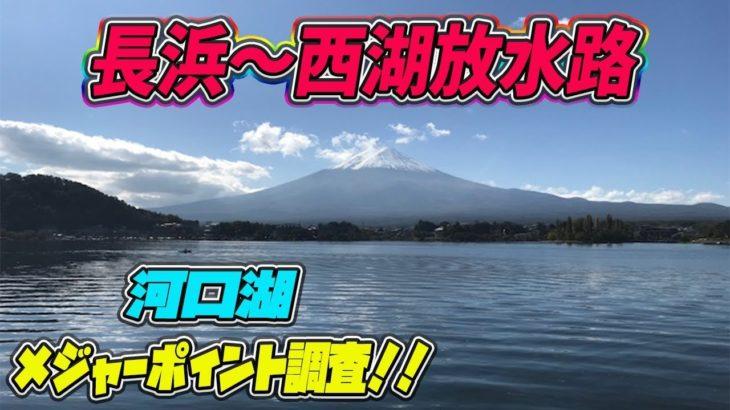 メジャー P 調査!河口湖 長浜〜西湖放水路! ブラックバス釣り