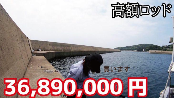 1本3600万円の防波堤専用高額ロッドの釣れかたに注目w