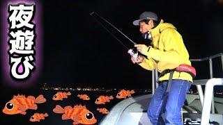夜釣!今が旬の目がでっかい魚を狙え!