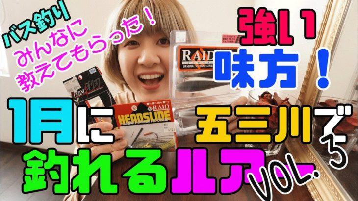 1月に五三川で釣れるルアーはこれ!!Vol.3【バス釣り】