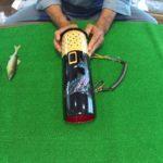 鮎釣りの道具(自作の竹筒)