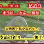 令和2  7月1日   鮎釣り   米代川   水系  解禁  天然遡上鮎を求めて~ 後半