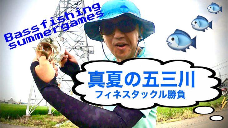 #五三川バス釣り#真夏の五三川#フィネスタックル#養老水系#大江川#Bassfishing#Gary yamamoto#AngryStick