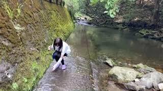 【公式釣りガール】サキやん山奥の川で釣り