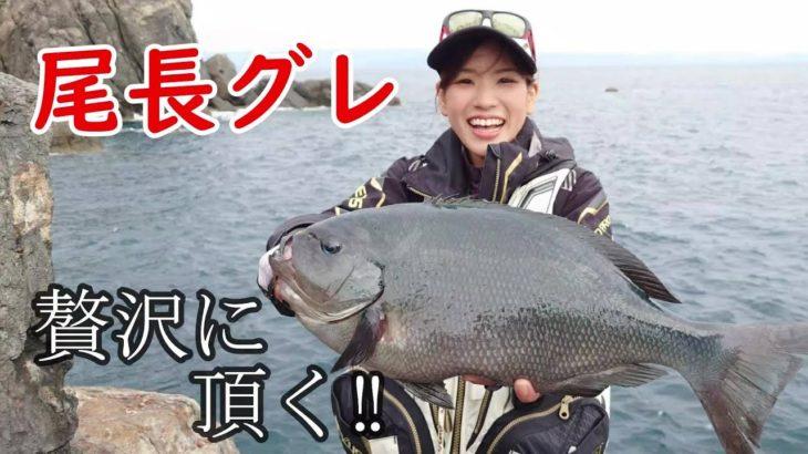 磯釣り師の特権!高知県 沖の島で釣れた丸々太った「尾長グレ」を贅沢に頂く!