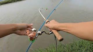 【川のぬし釣り】ついに!あの魚が!※とても危険ですので真似しないでねっ
