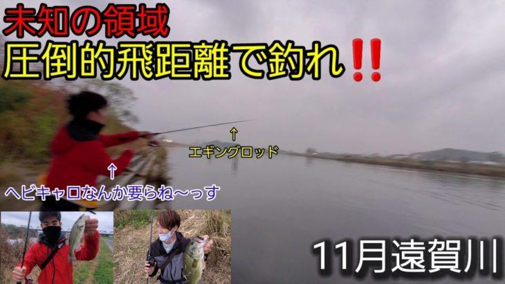 《バス釣り》ヘビキャロなんか要らねーw低水温期の遠賀川はこいつでぶっ飛ばしたら釣れます【遠賀川】【11月バス釣り】【低水温期】【大遠投】【ゲーリーヤマモト】【ヤマセンコー】【Vlog】【ブラックバス】