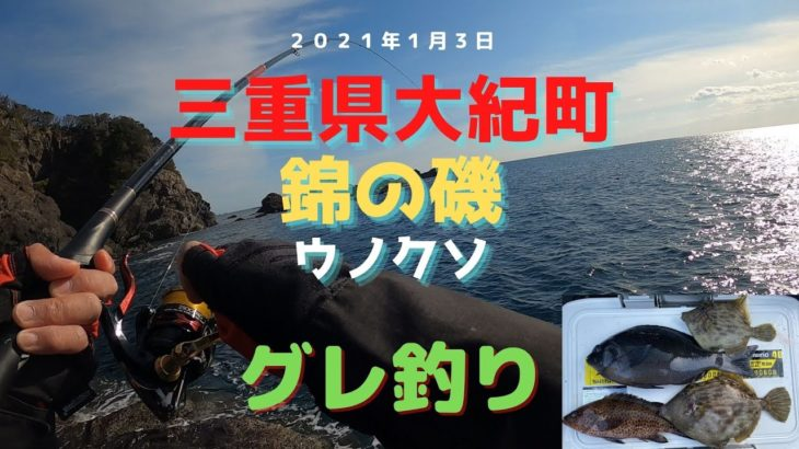 三重県大紀町錦の磯でグレ釣り 2021年初釣り1月3日