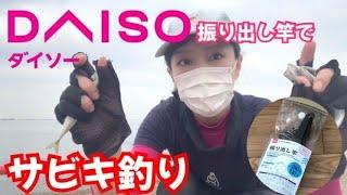 【ダイソー釣り竿】鳴尾浜臨海公園海釣り広場【サビキ釣り】