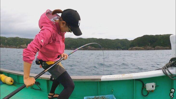 巨大魚の潜む海でのべ竿の限界に挑むと…【最強のべ竿vs青物】