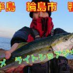 フック伸ばされた【輪島の釣り】近所の地磯でショアジギング