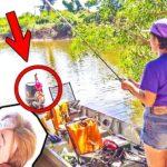 チョベリグ塗ったリカちゃんを危険魚の集まるスポットに落すと…