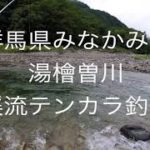 群馬県みなかみ町 湯檜曽川 テンカラ釣行