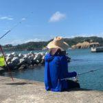 初心者が堤防釣りで過去最大の〇〇〇〇を釣った!引きがヤバイおかげで釣りに夢中【泳がせ釣り】【宮城県】