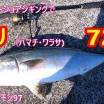【ブリ72㎝】堤防からメタルジグで釣ったよ。ジギングフルモン97