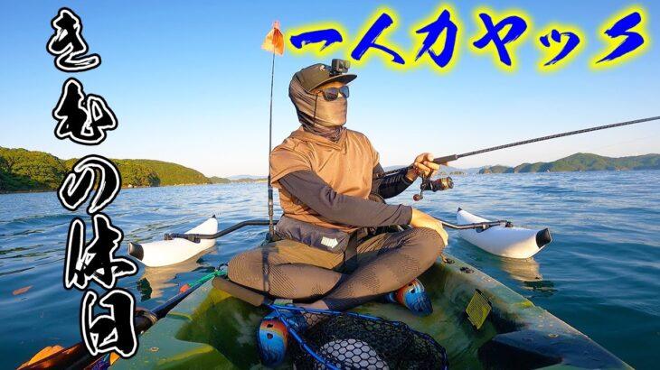 一人でカヤックに乗りアオリイカを釣る!!